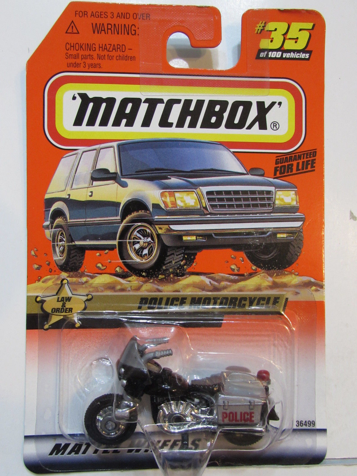 MATCHBOX 1999 #35/100 LAW & ORDER - POLICE MOTORCYCLE