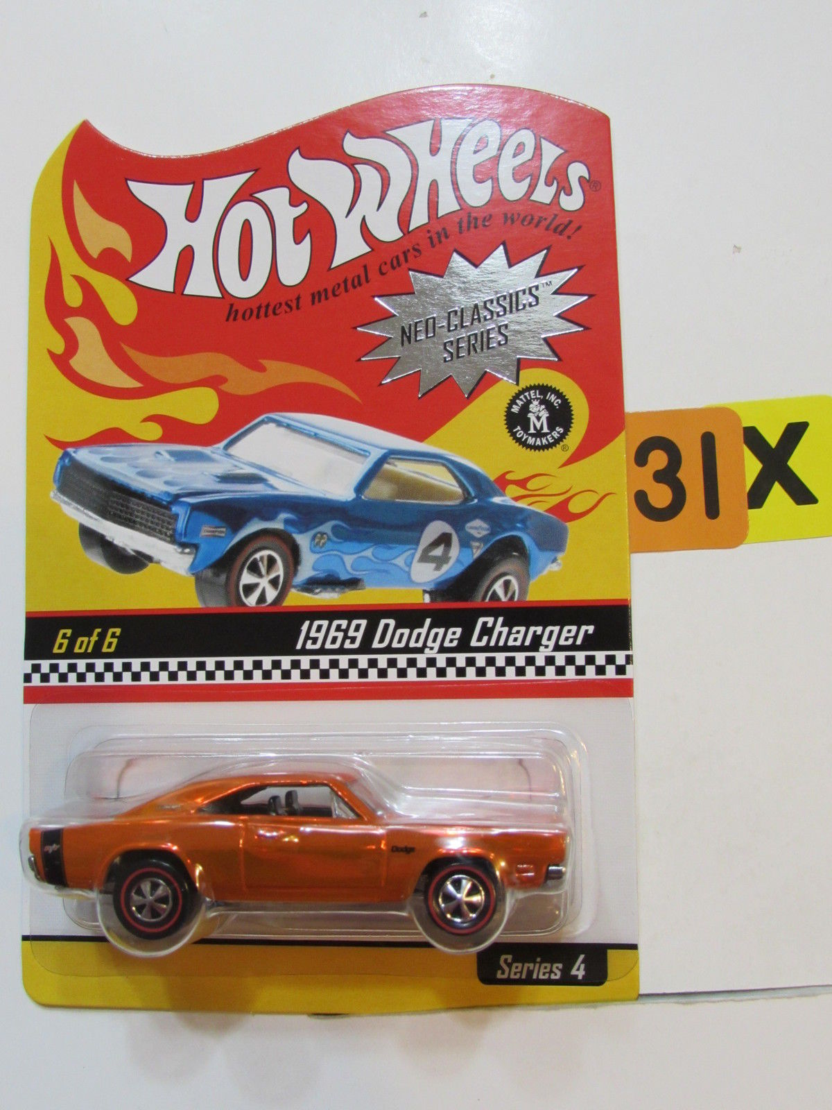 HOT WHEELS 2004 NEO-CLASSICS SERIES #6/6 SERIES 4 1969 DODGE CHARGER