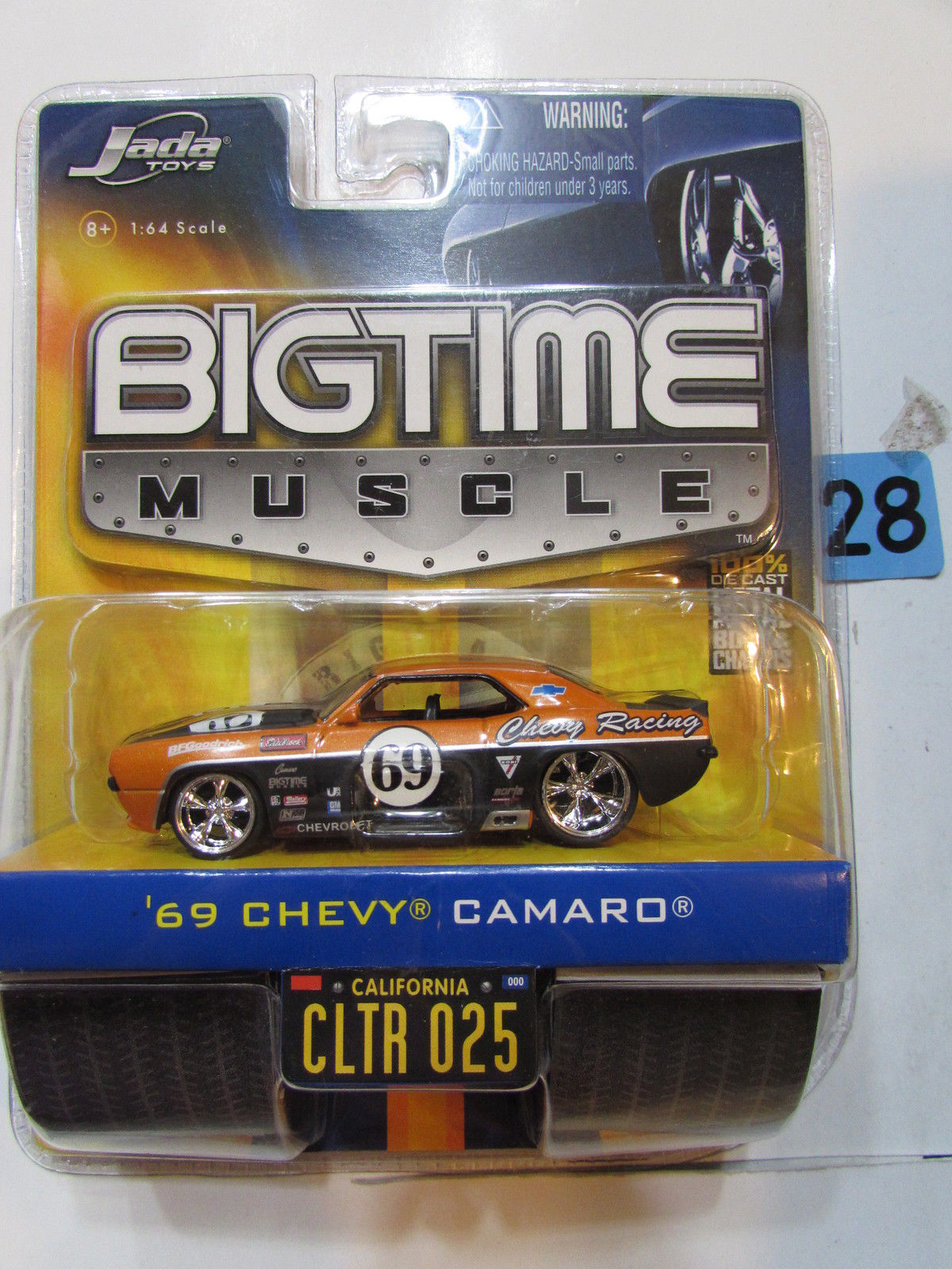 JADA DUB CITY BIGTIME MUSCLE '69 CHEVY CAMARO CLTR 025 SCALE 1:64