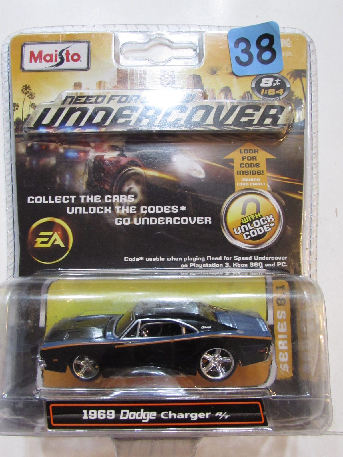 MAISTO NEED FOR SPEED UNDERCOVER EA 1969 DODGE CHARGER R/T SCALE 1:64