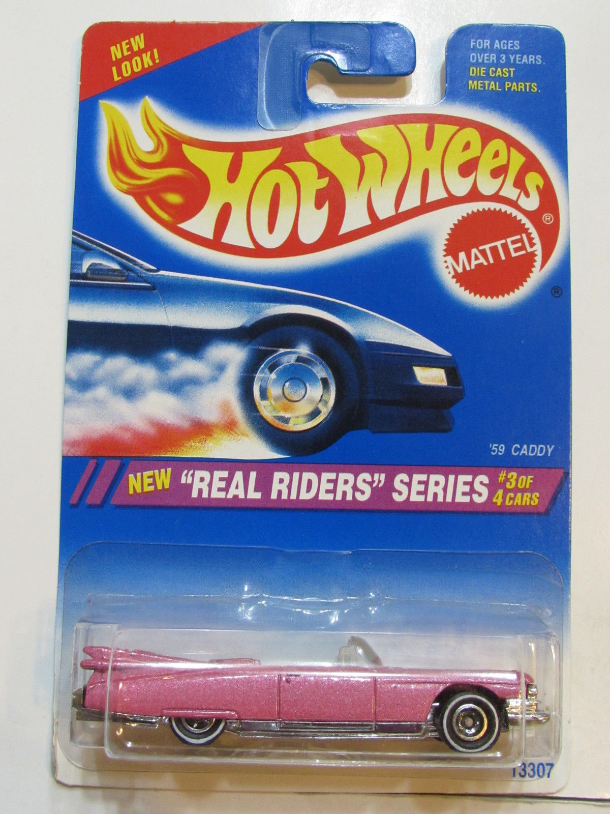 HOT WHEELS 1994 REAL RIDERS SERIES - '59 CADDY PINK #3/4 E+