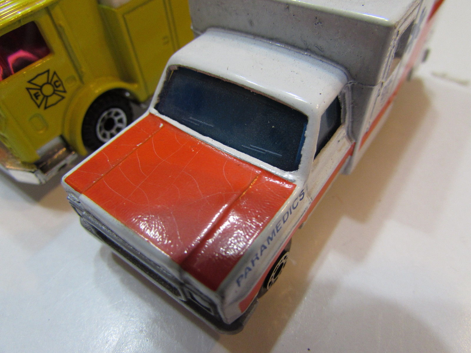 MATCHBOX LOT OF 3 LOOSE MACK AUXILIARY POWER TRUCK AMBULANCE VOLVO HAULER 1977