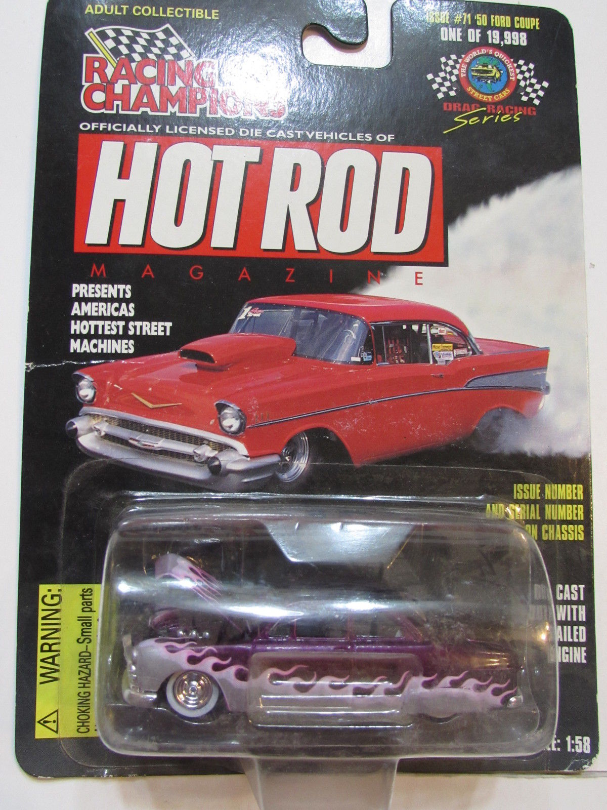 RACING CHAMPIONS HOT ROD '50 FORD COUPE 1:58 SCALE #71