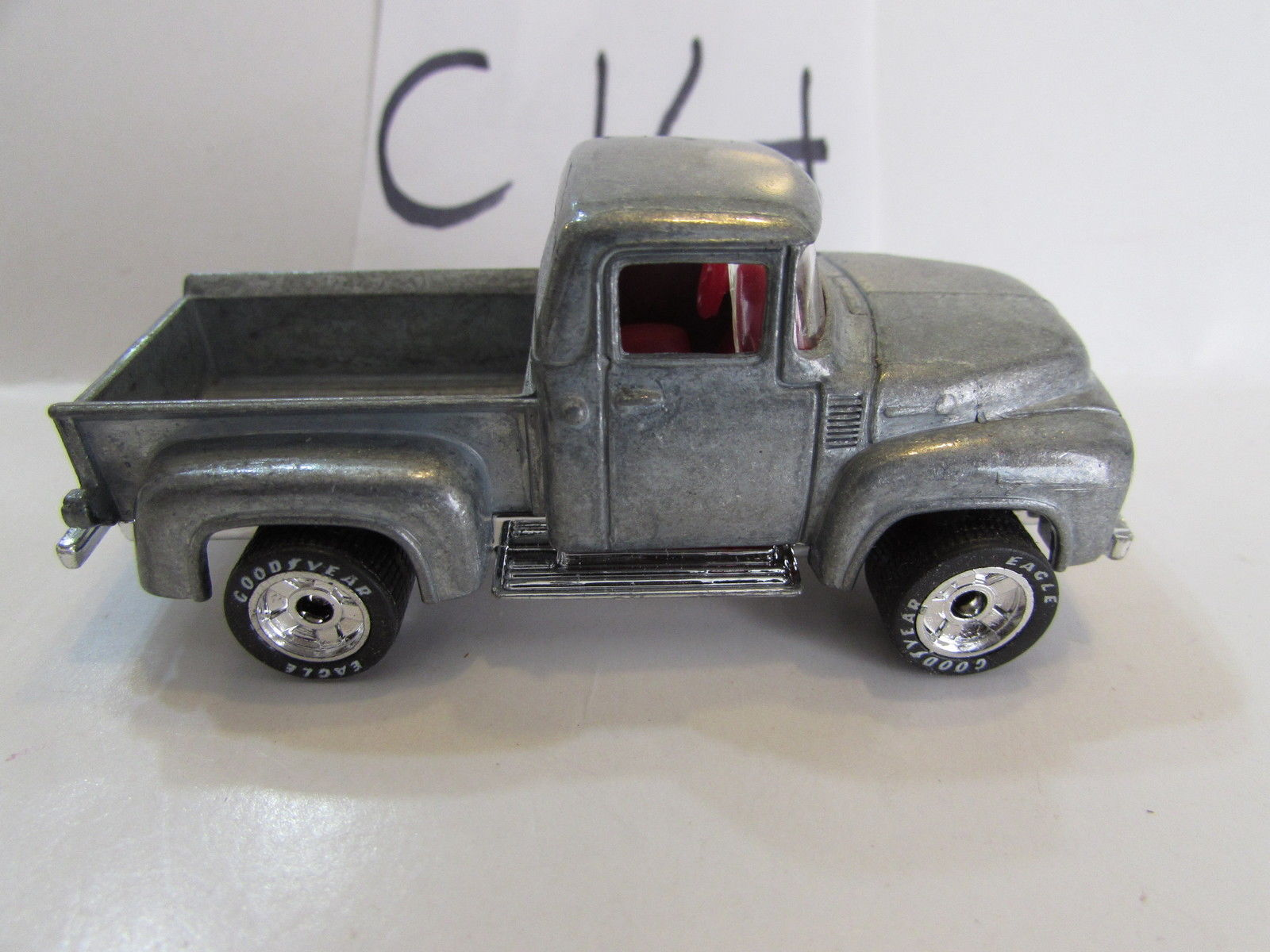 MATCHBOX 1996 INAUGURAL COLLECTION - '56 FORD PICKUP - ZAMAC RAW PAINT - Click Image to Close