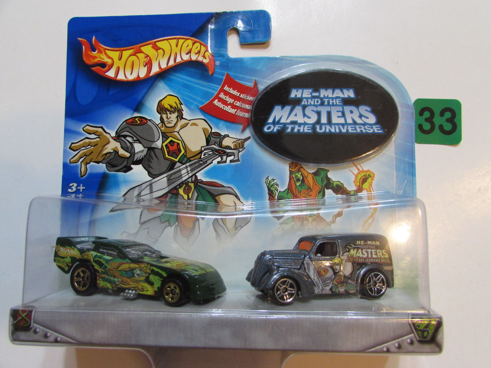 HOT WHEELS 2 CAR PACK - HE MAN AND THE MASTER OF THE UNIVERSE FUNNY CAR - FORD