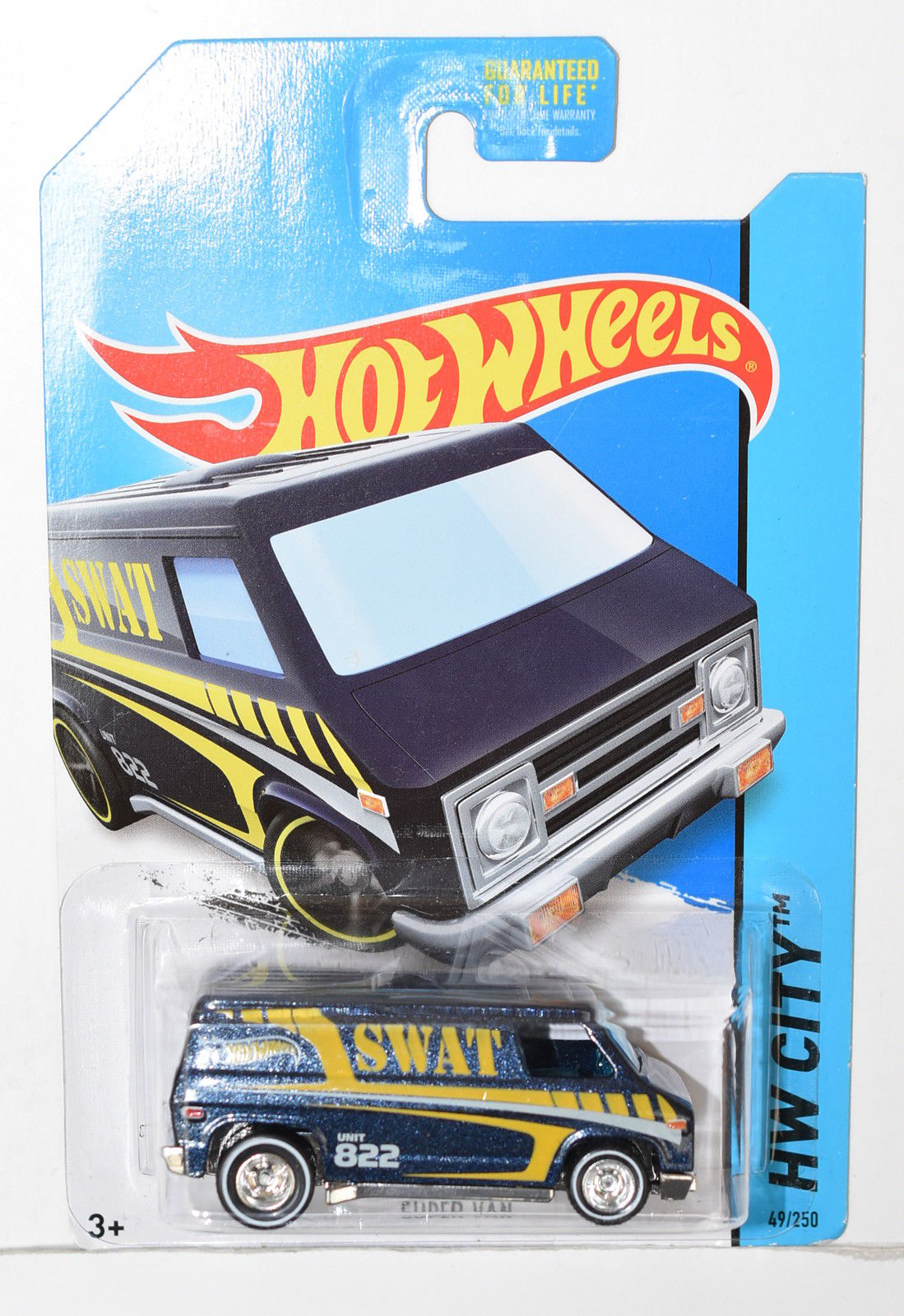 HOT WHEELS 2014 HW CITY - HW RESCUE SUPER VAN SWAT CUSTOM MADE
