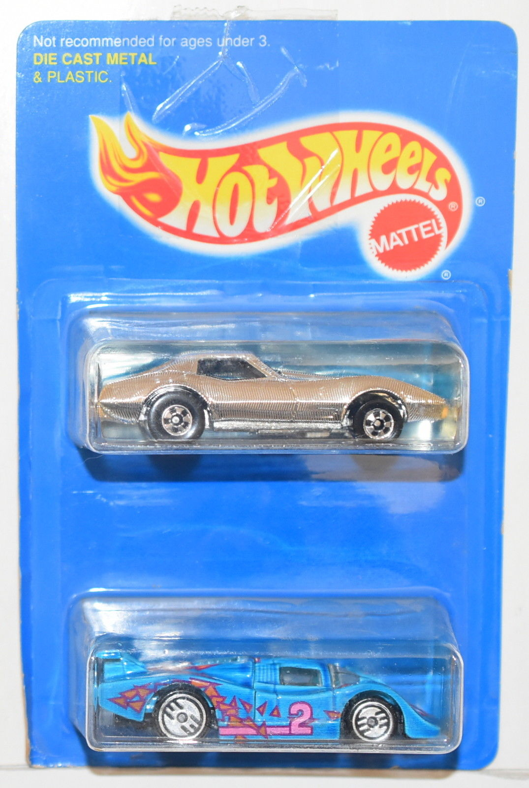 HOT WHEELS 1994 2 CAR PACK SOL-AIRE CX4 - CORVETTE STINGRAY