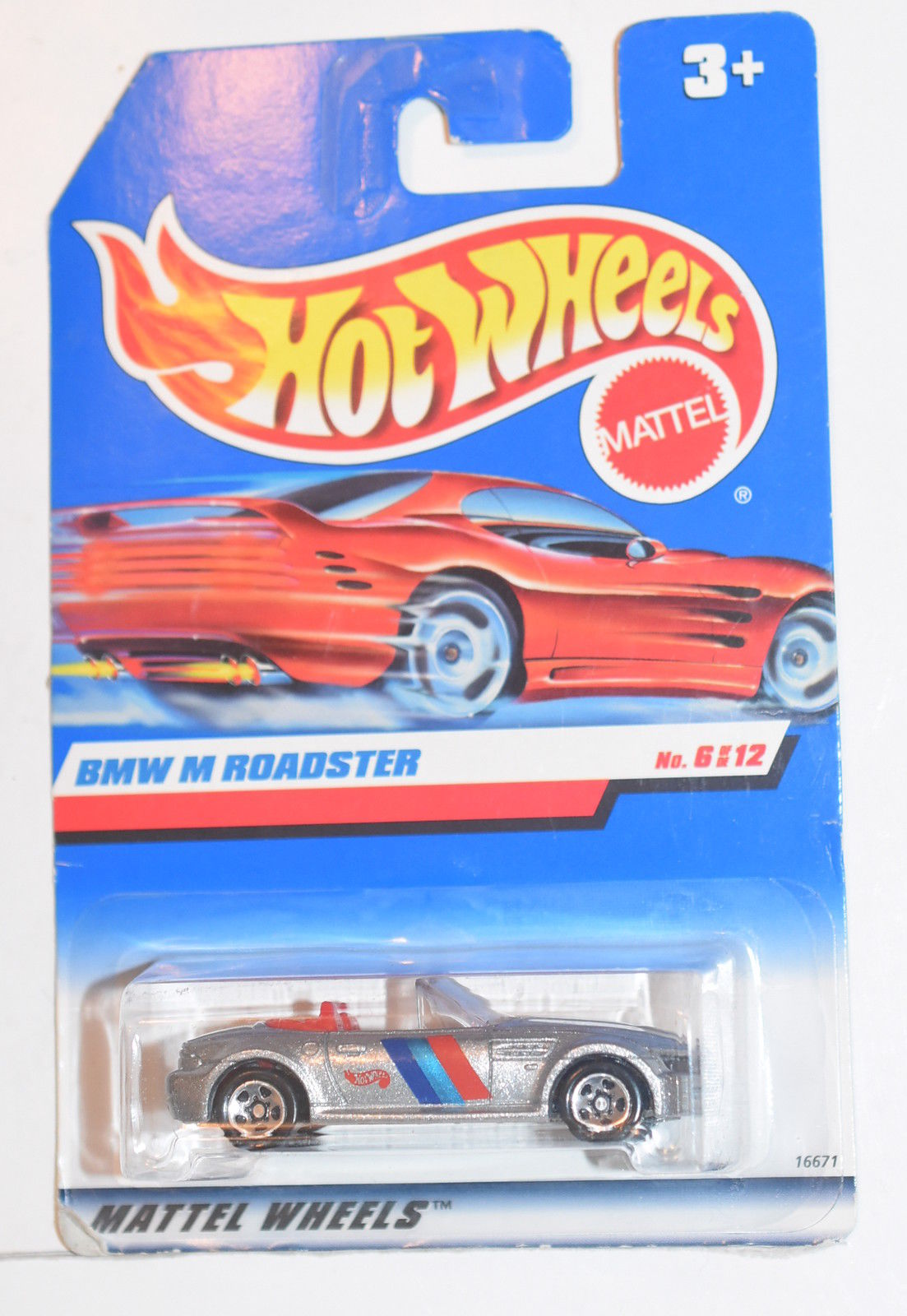 HOT WHEELS 1997 #6/12 BMW M ROADSTER INTERNATIONAL CARD