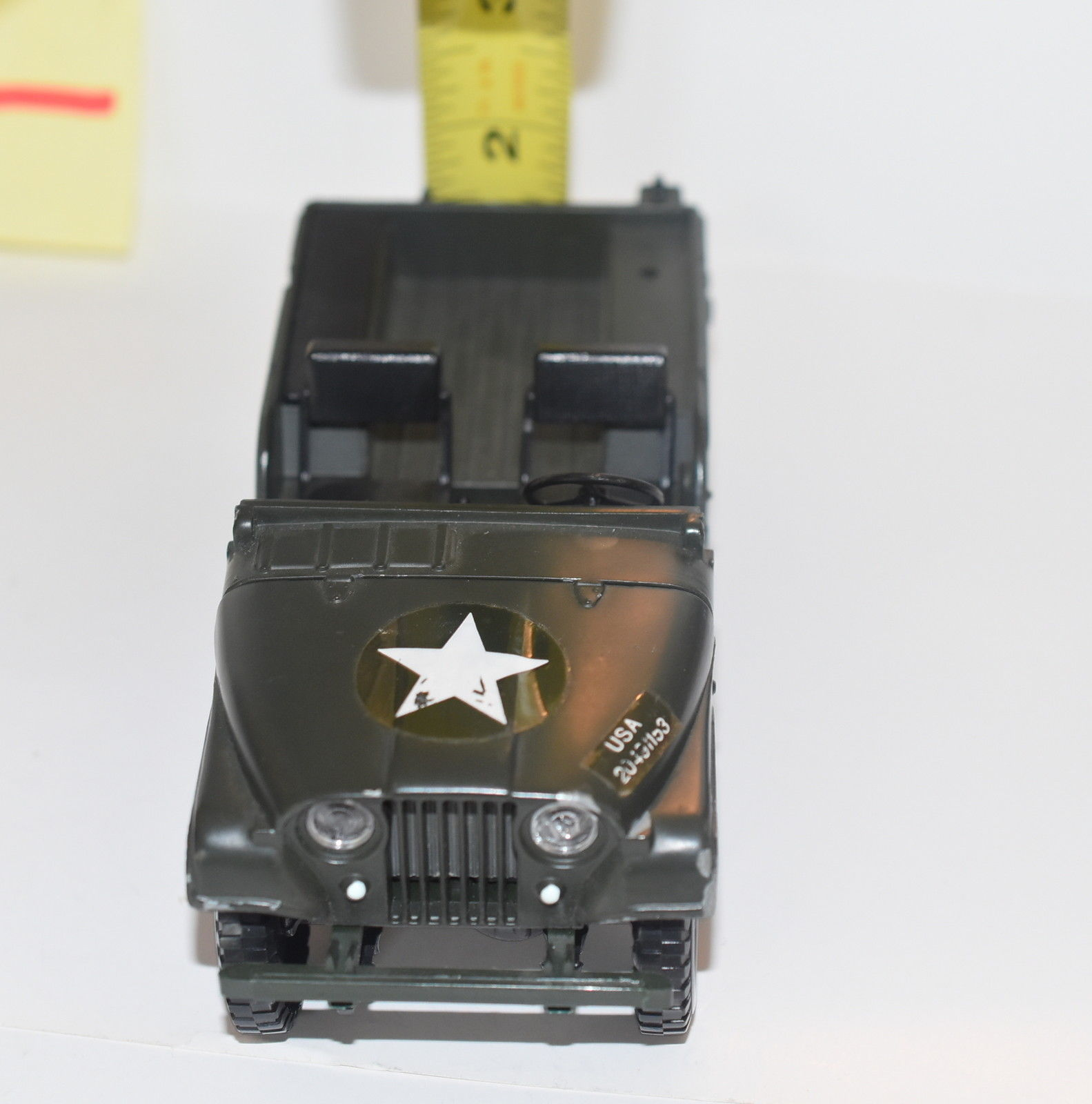 MATTEL MEBE TOYS MILITARY JEEP WILLYS MADE IN ITALY SCALE 1/25 - LOOSE