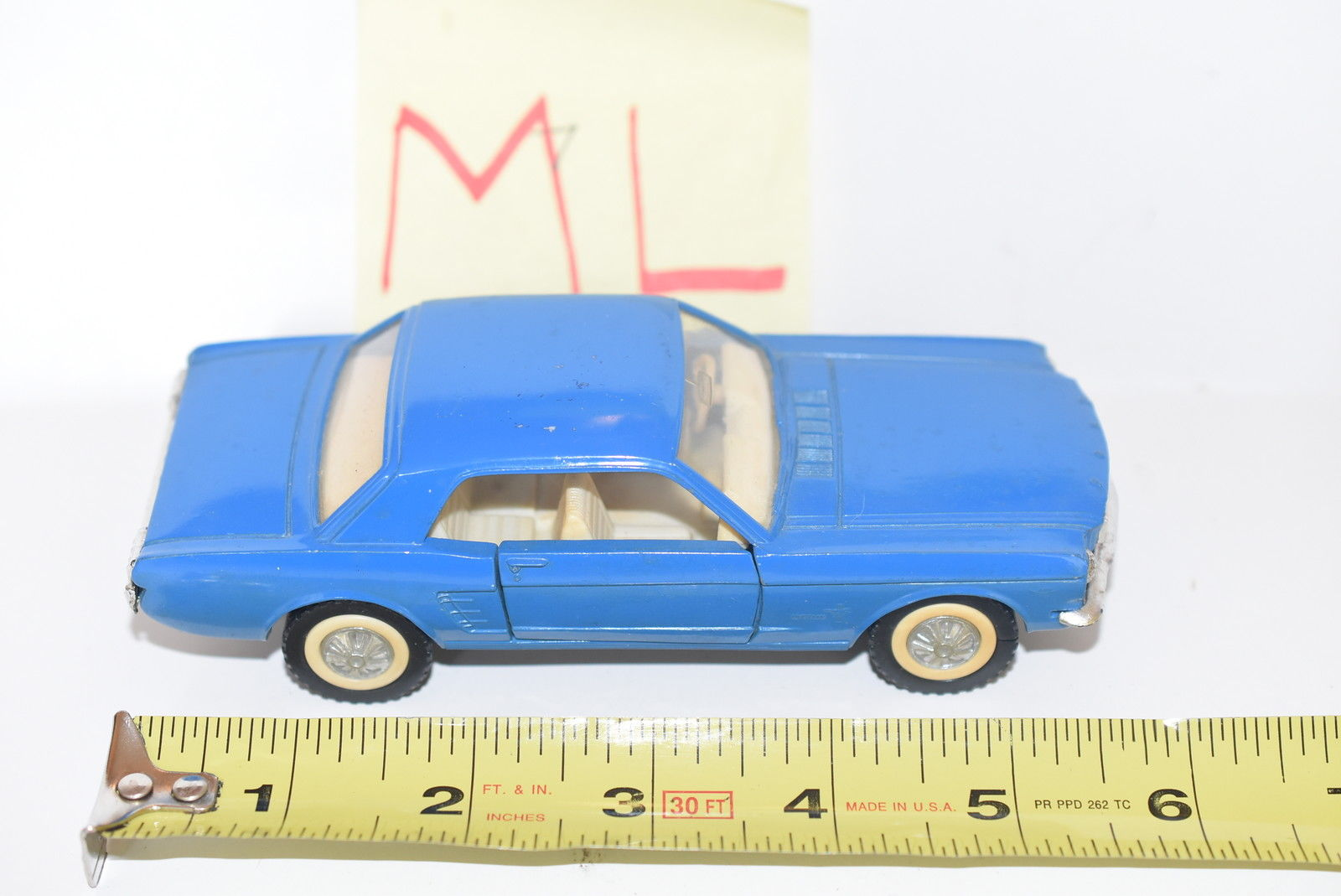 MAJORETTE '65 FORD MUSTANG BLUE SCALE 1/32 LOOSE