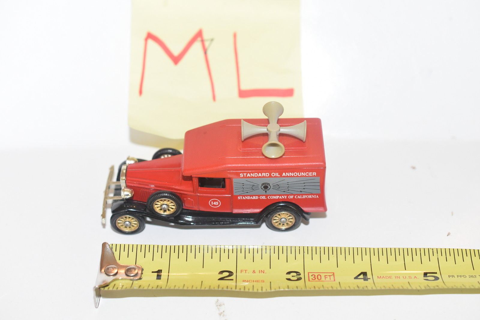 CHEVRON DIE - CAST TRUCK #7 RED - STANDARD OIL ANNOUNCER MADE IN ENGLAND - LOOSE
