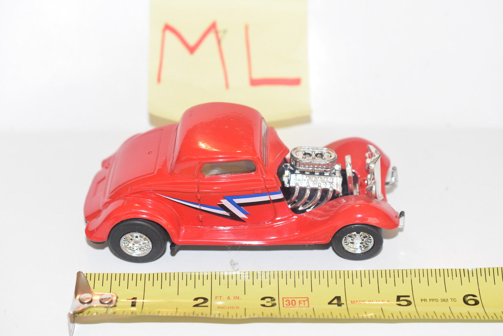 MAJORETTE 1934 FORD 3 - WINDOW COUPE RED SCALE 1/32 LOOSE