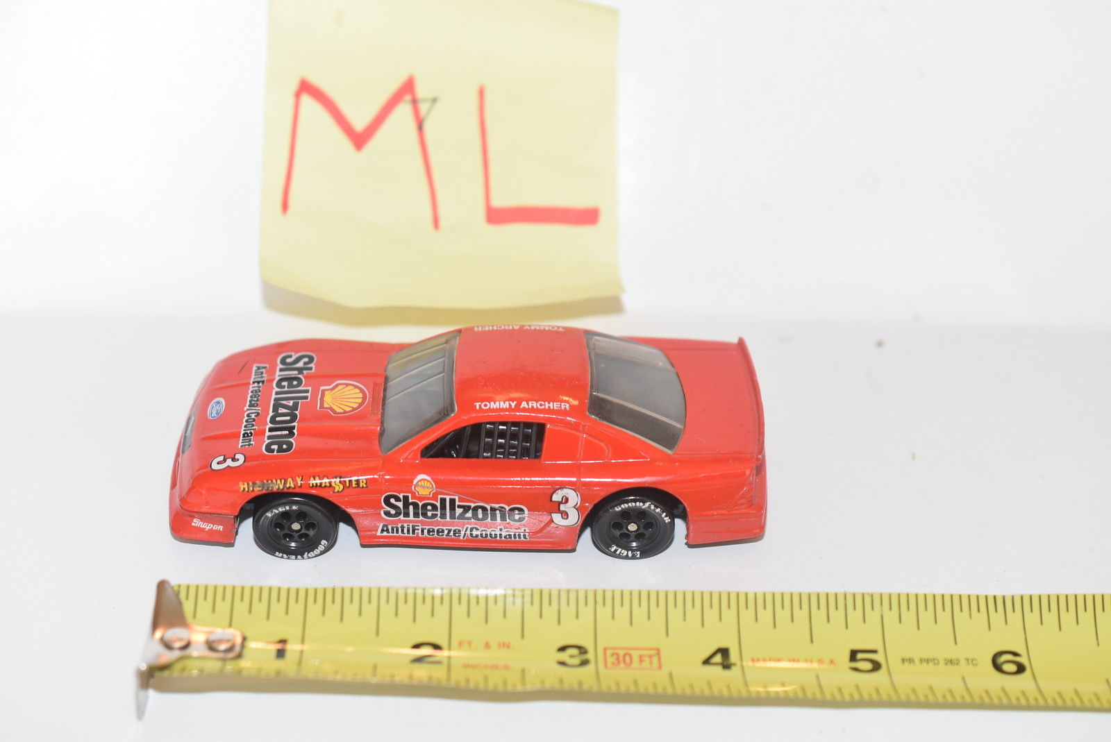 95 MUSTANG RACE CAR PROMO RED SHELLZONE - TRANSAM SERIES - TOMMY ARCHER - LOOSE