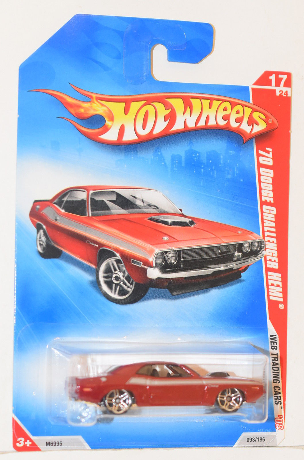 HOT WHEELS 2008 WEB TRADING CARS '70 DODGE CHALLENGER HEMI RED
