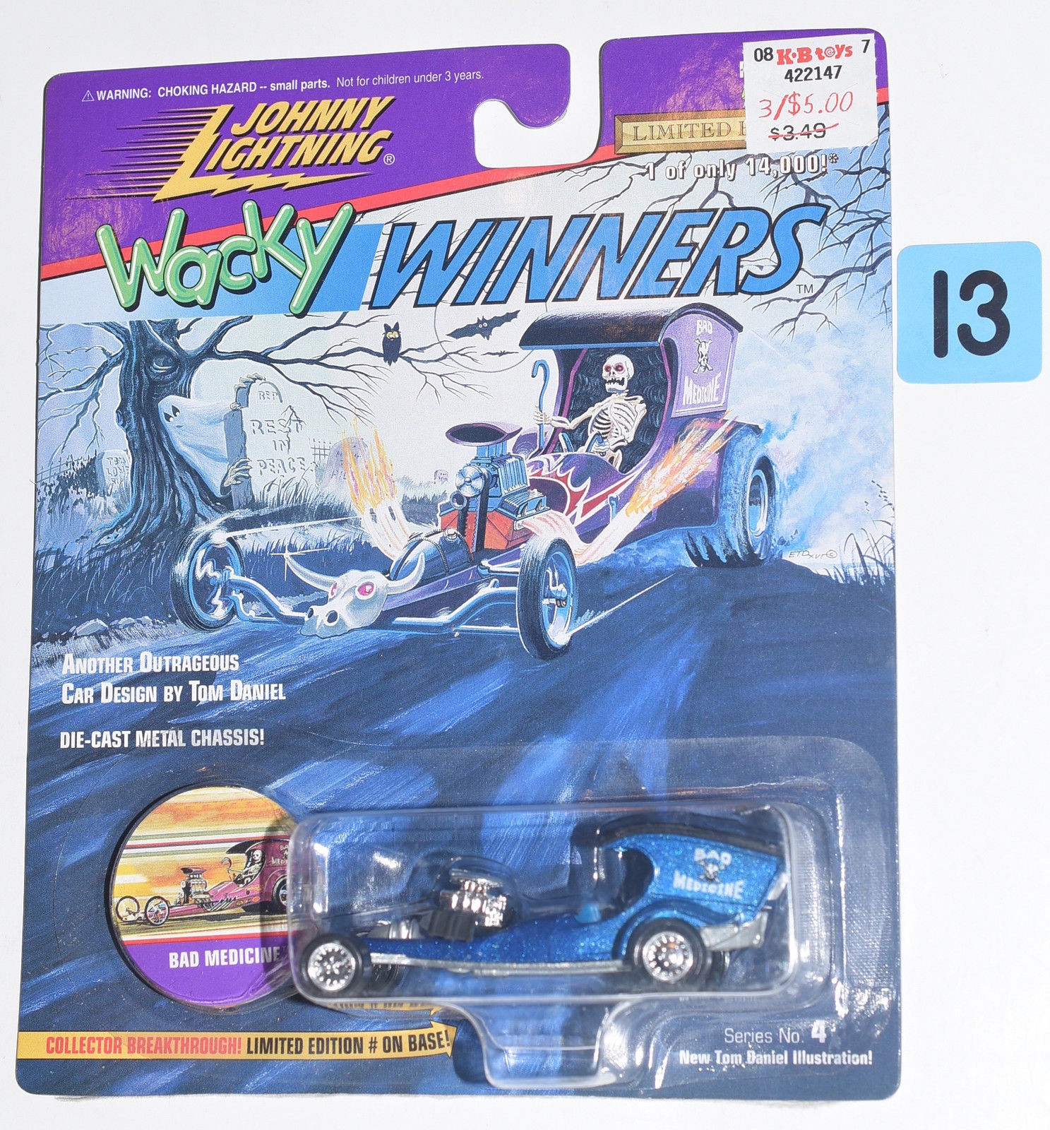JOHNNY LIGHTNING WACKY WINNERS SERIES 4 BAD MEDICINE