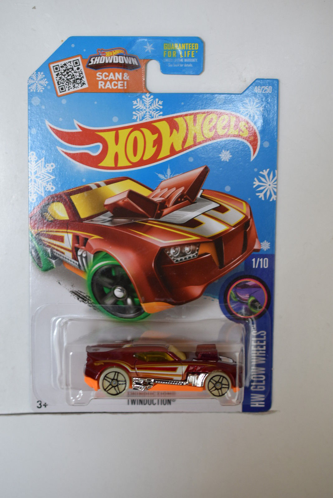 HOT WHEELS 2016 HW GLOW WHEELS - TWINDUCTION #1/10 SNOW CARD