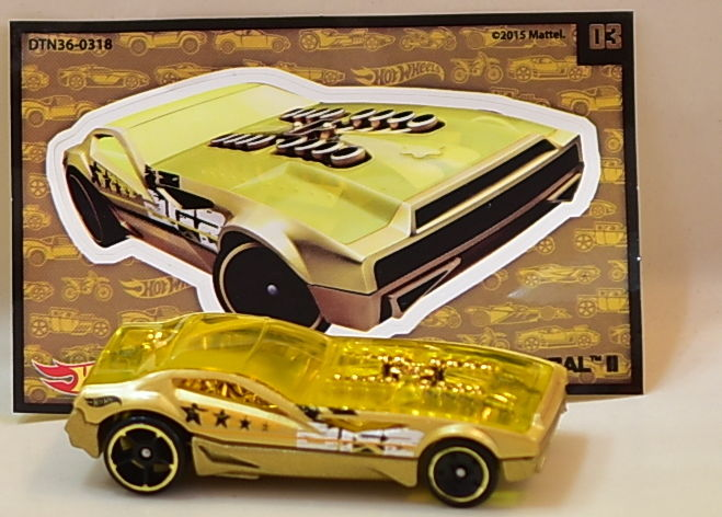 HOT WHEELS 2016 MYSTERY BYE FOCAL II GOLD #03 CHASE