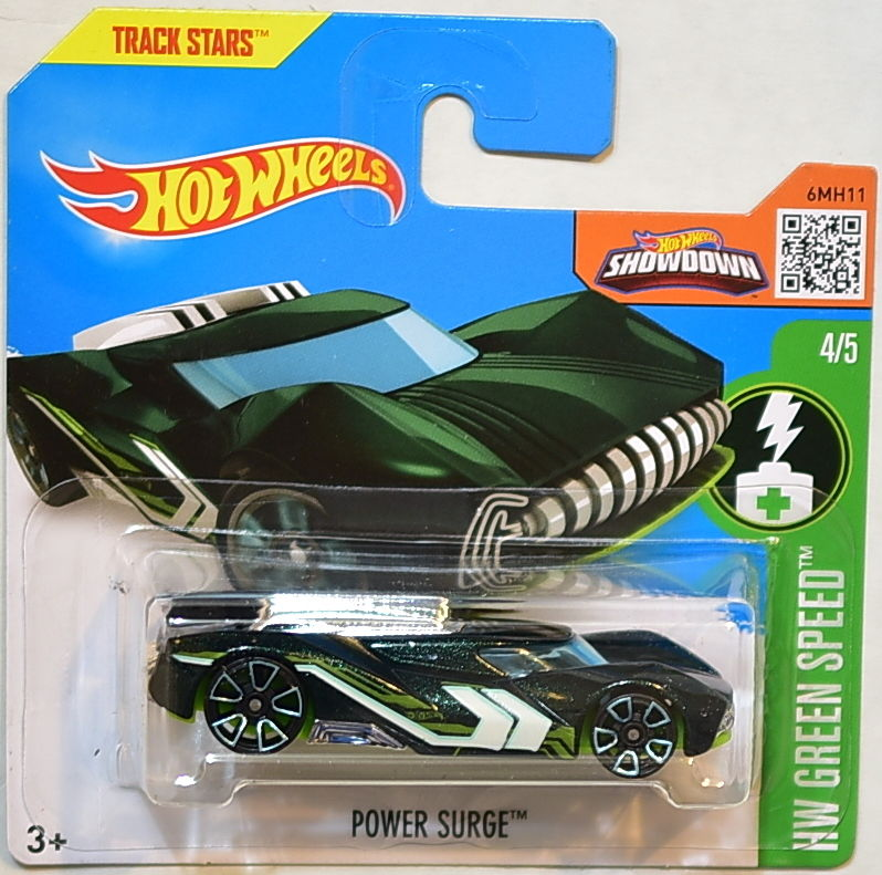 HOT WHEELS 2016 HW GREEN SPEED POWER SURGE #4/5 SHORT CARD