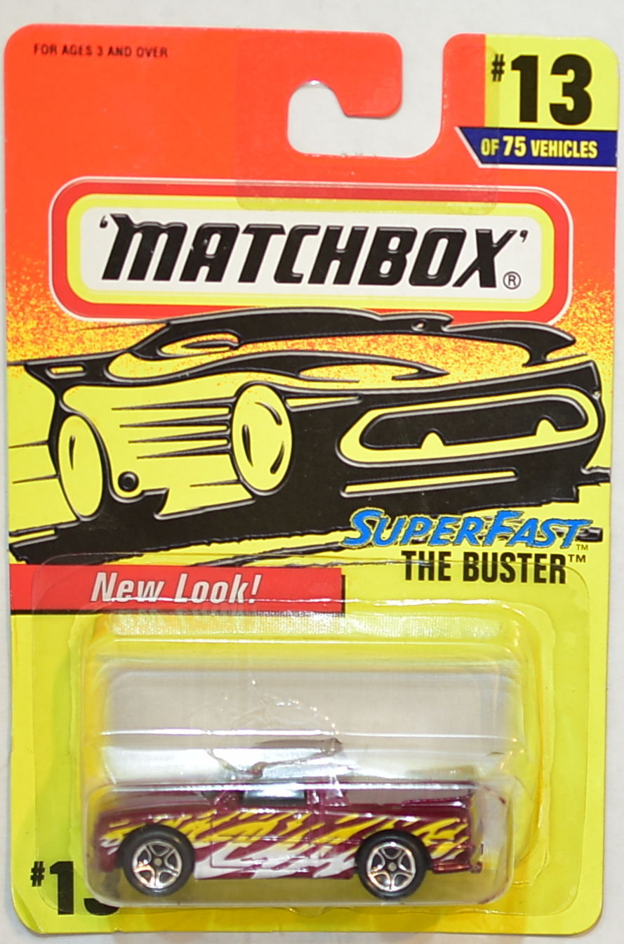 MATCHBOX 1997 SUPERFAST THE BUSTER #13