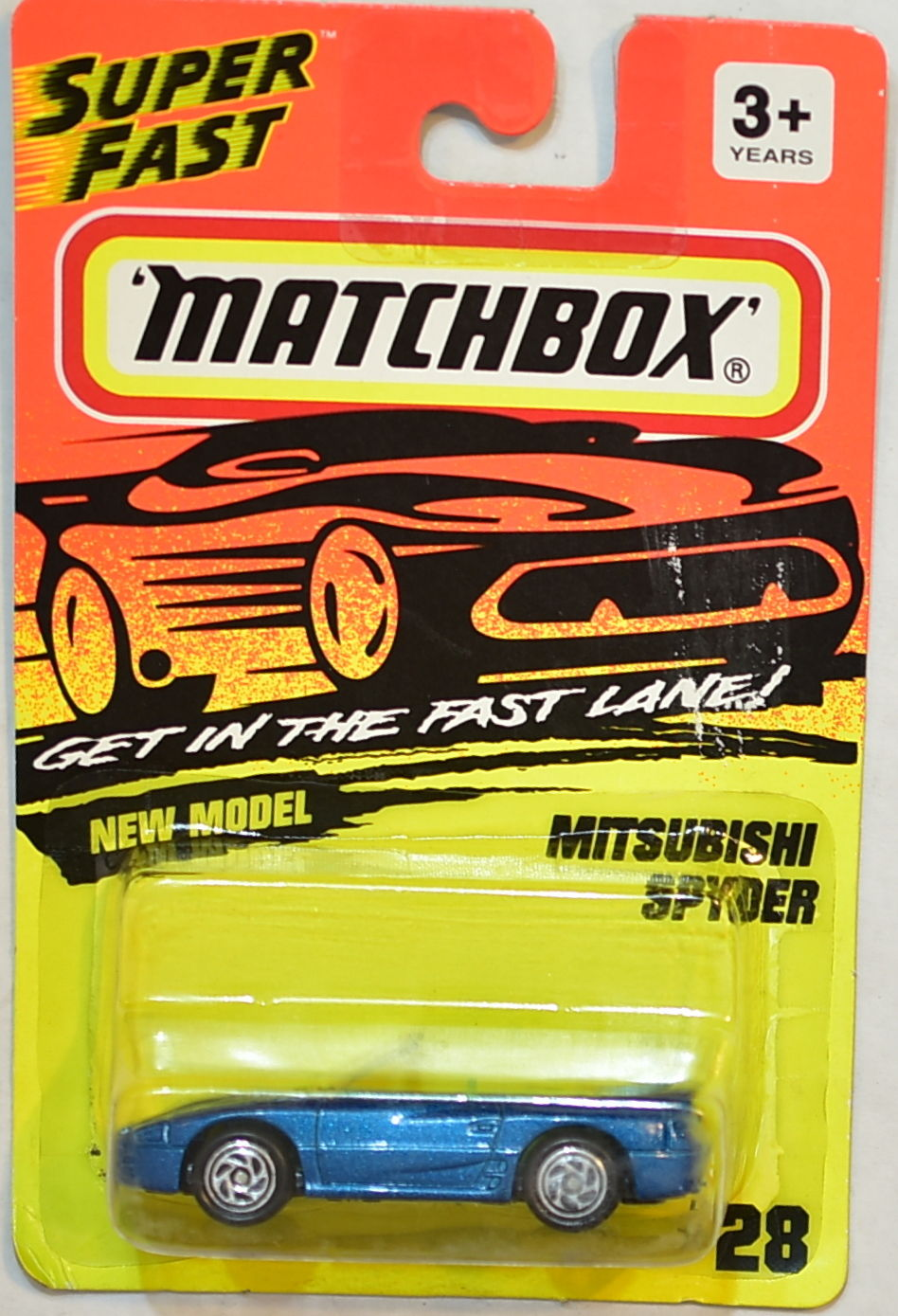 MATCHBOX 1994 NEW MODEL - MITSUBISHI SPYDER BLUE