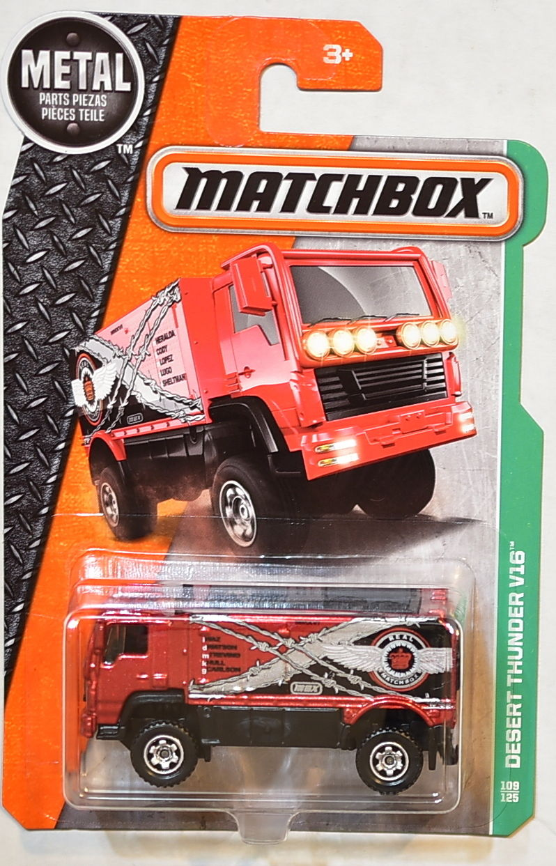 MATCHBOX 2016 METAL PARTS PIEZAS DESERT THUNDER V16 E+