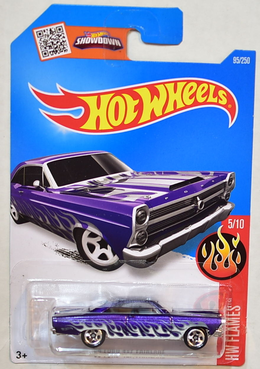 HOT WHEELS 2016 HW FLAMES '66 FORD 427 FAIRLANE #5/10 PURPLE