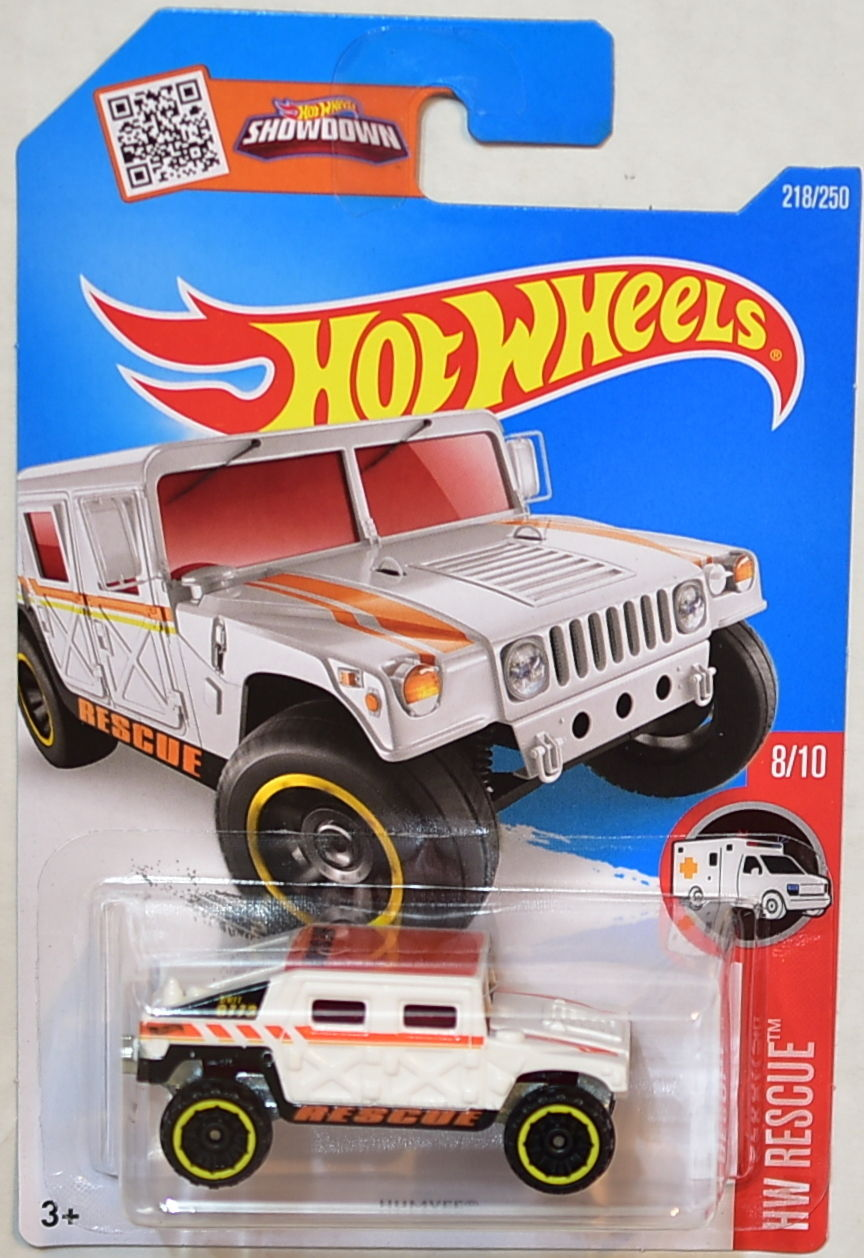 HOT WHEELS 2016 HW RESCUE #8/10 HUMVEE WHITE