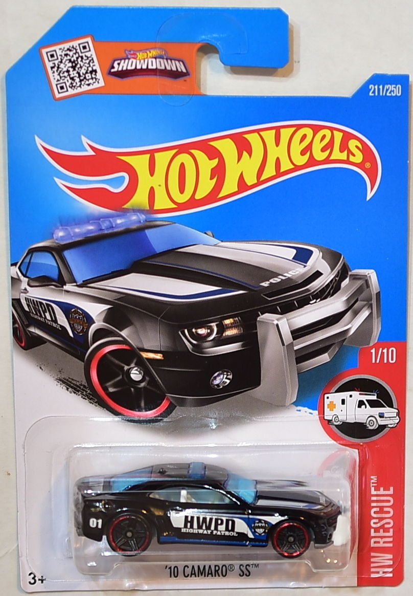 HOT WHEELS 2016 HW RESCUE '10 CAMARO SS BLACK #1/10