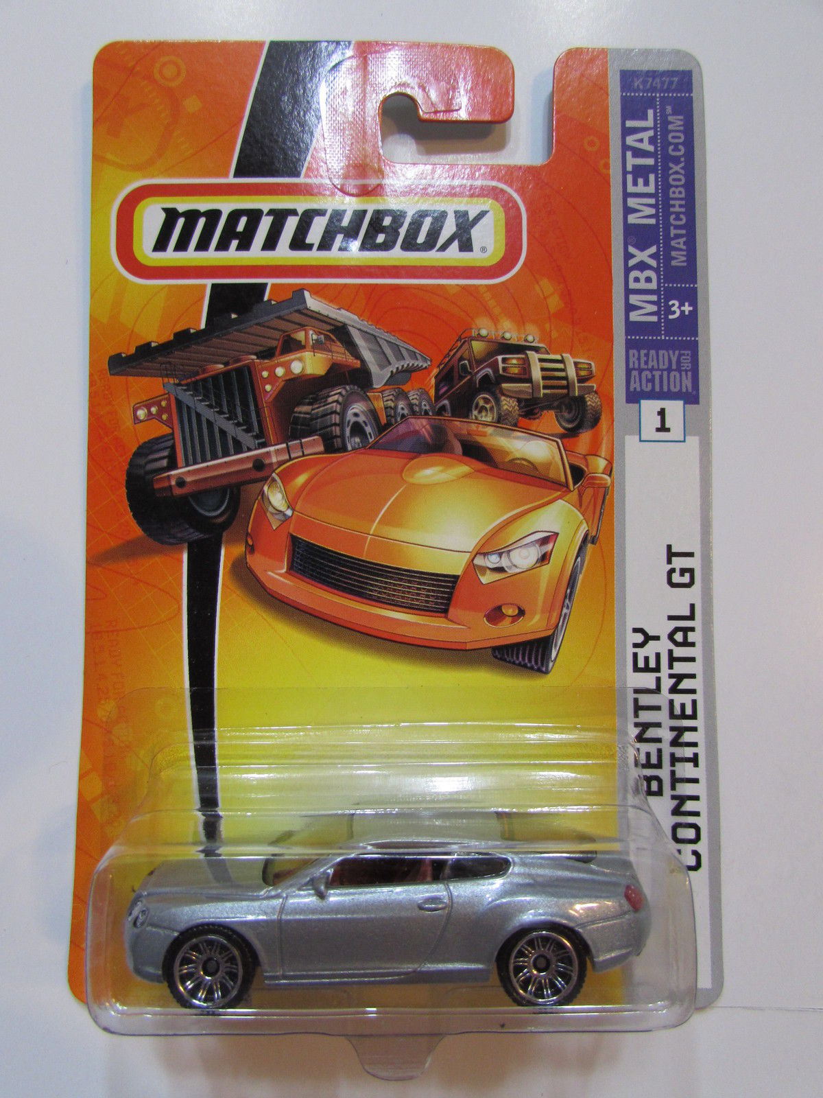 MATCHBOX 2007 BENTLEY CONTINENTAL GT GRAY #1