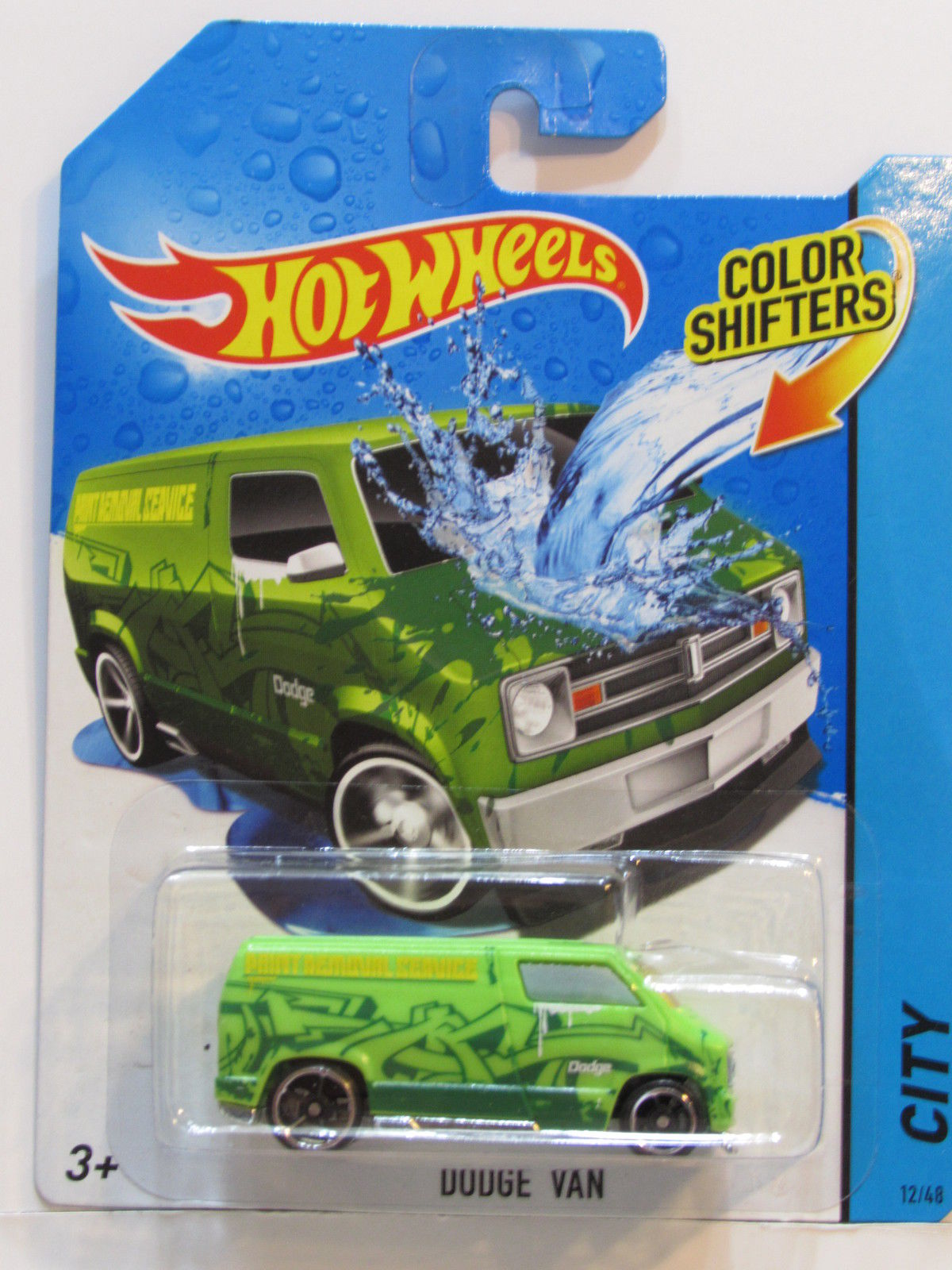 HOT WHEELS CITY COLOR SHIFTERS - CITY DODGE VAN