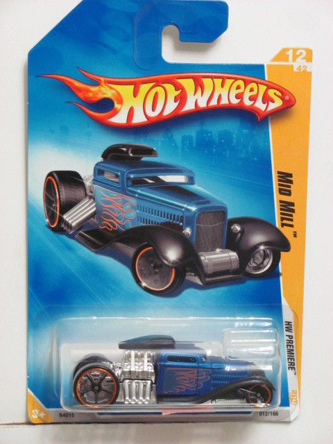 HOT WHEELS 2009 #12/42 MID MILL - 2009 NEW MODELS BLUE