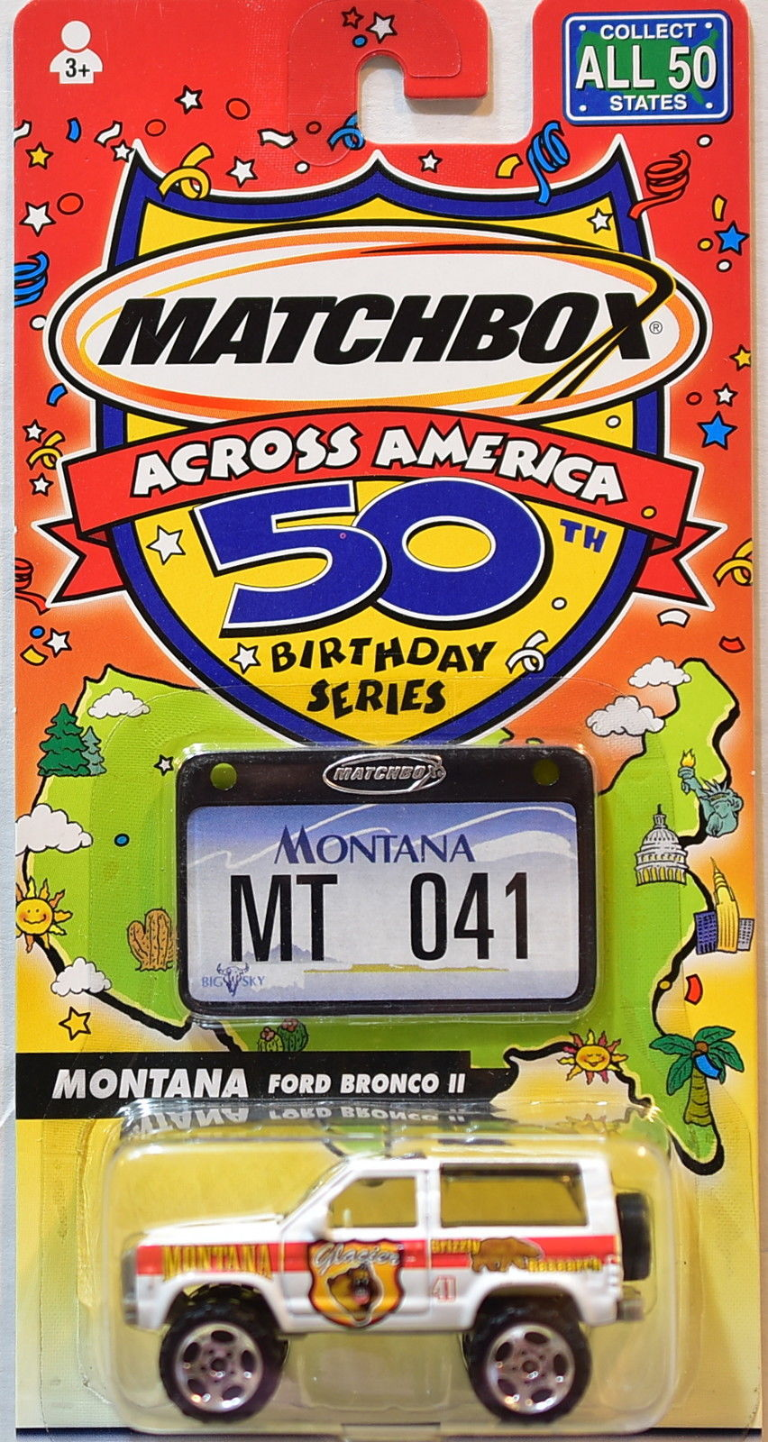 MATCHBOX ACROSS AMERICA 50TH BIRTHDAY SERIES MONTANA FORD BRONCO