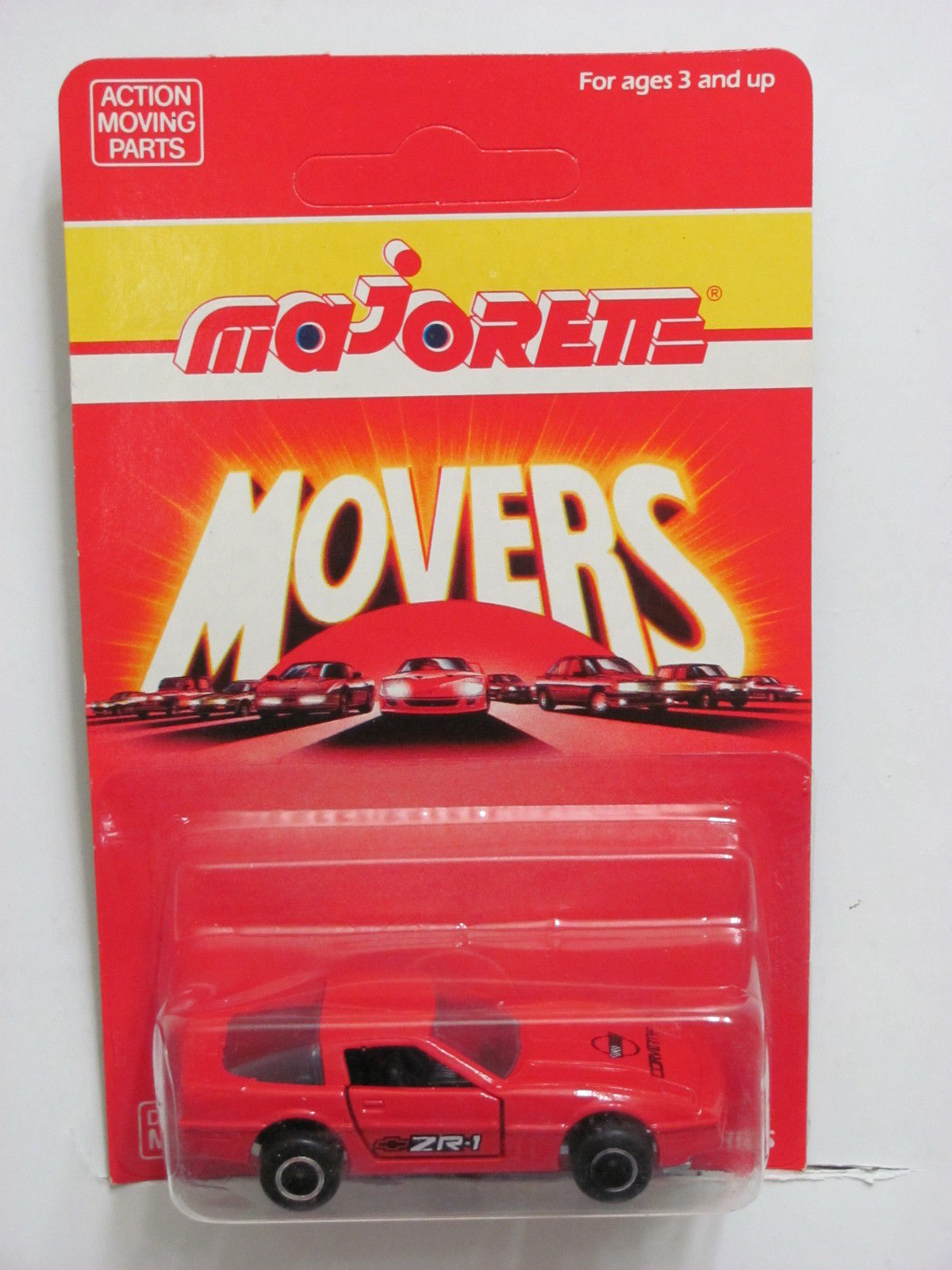 MAJORETTE MOVERS 215 CHEVROLET CORVETTE RED DIECAST METAL