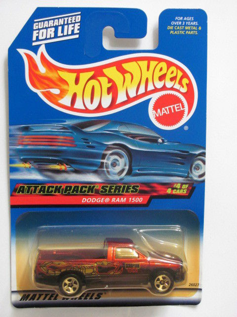 HOT WHEELS 2000 ATTACK PACK SERIES DODGE RAM 1500 #024 RED