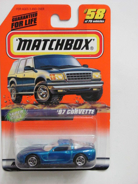 MATCHBOX 1998 #58 of 75 '97 CORVETTE - SUPER CARS