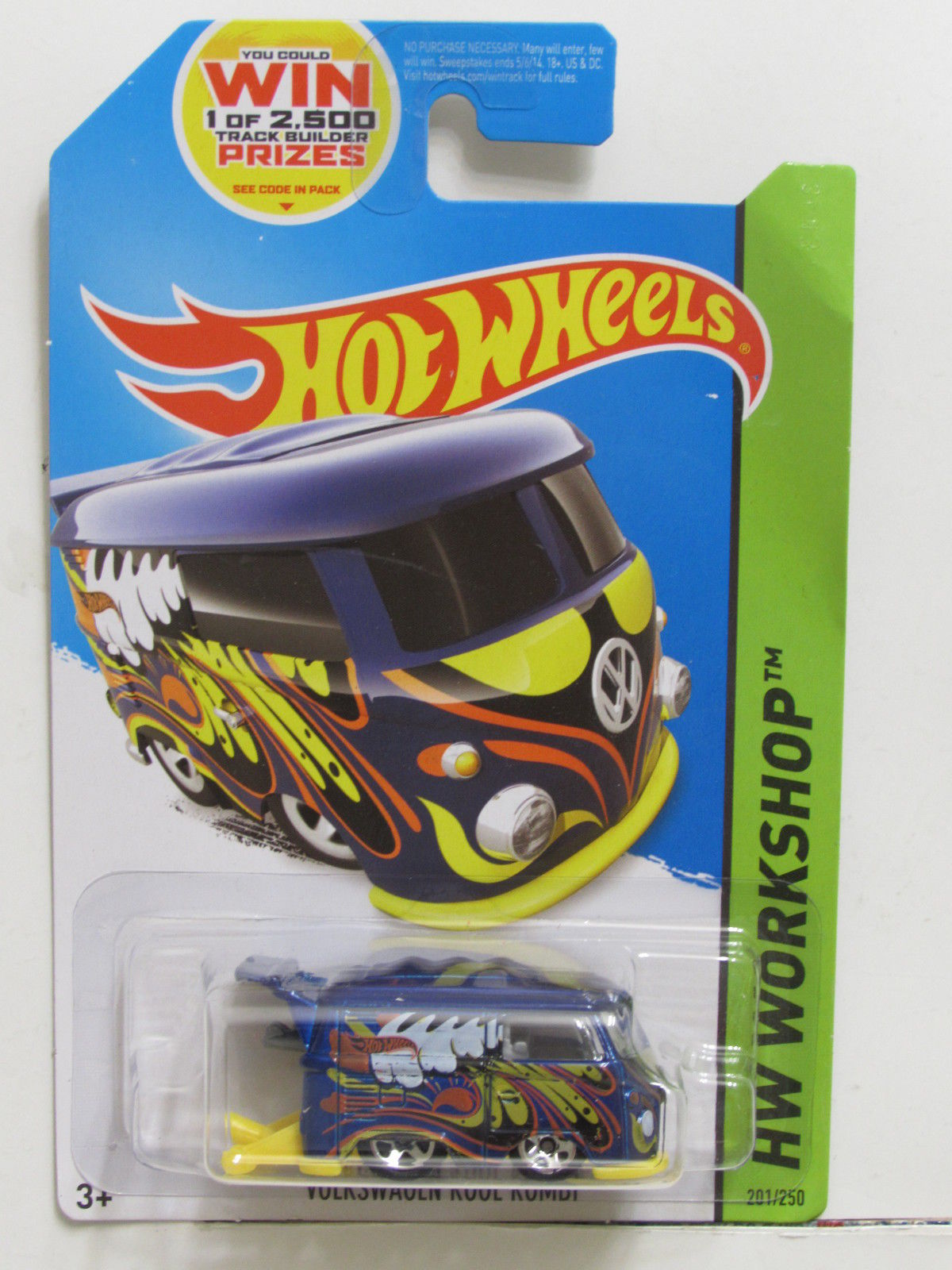 HOT WHEELS 2014 HW WORKSHOP - HW GARAGE VOLKSWAGEN KOOL KOMBI BLUE