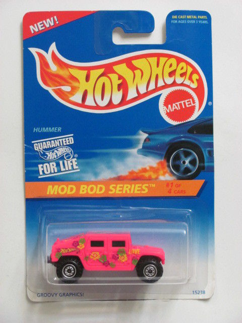 HOT WHEELS 1995 MOD BOD SERIES #01/04 HUMMER PINK