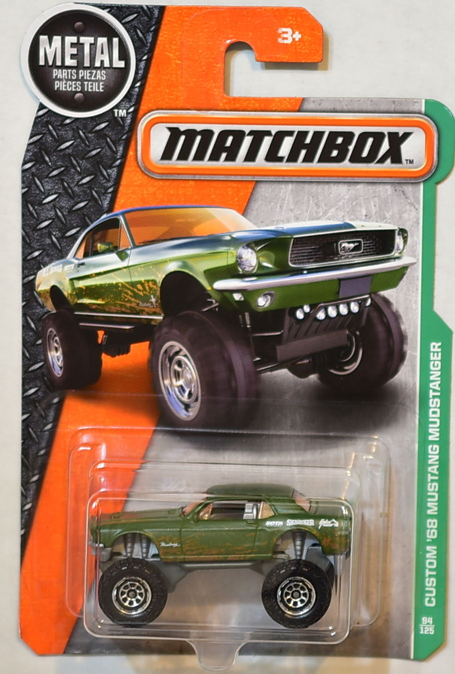 MATCHBOX 2016 METAL PARTS PIEZAS CUSTOM '68 MUSTANG MUDSTANGER E+