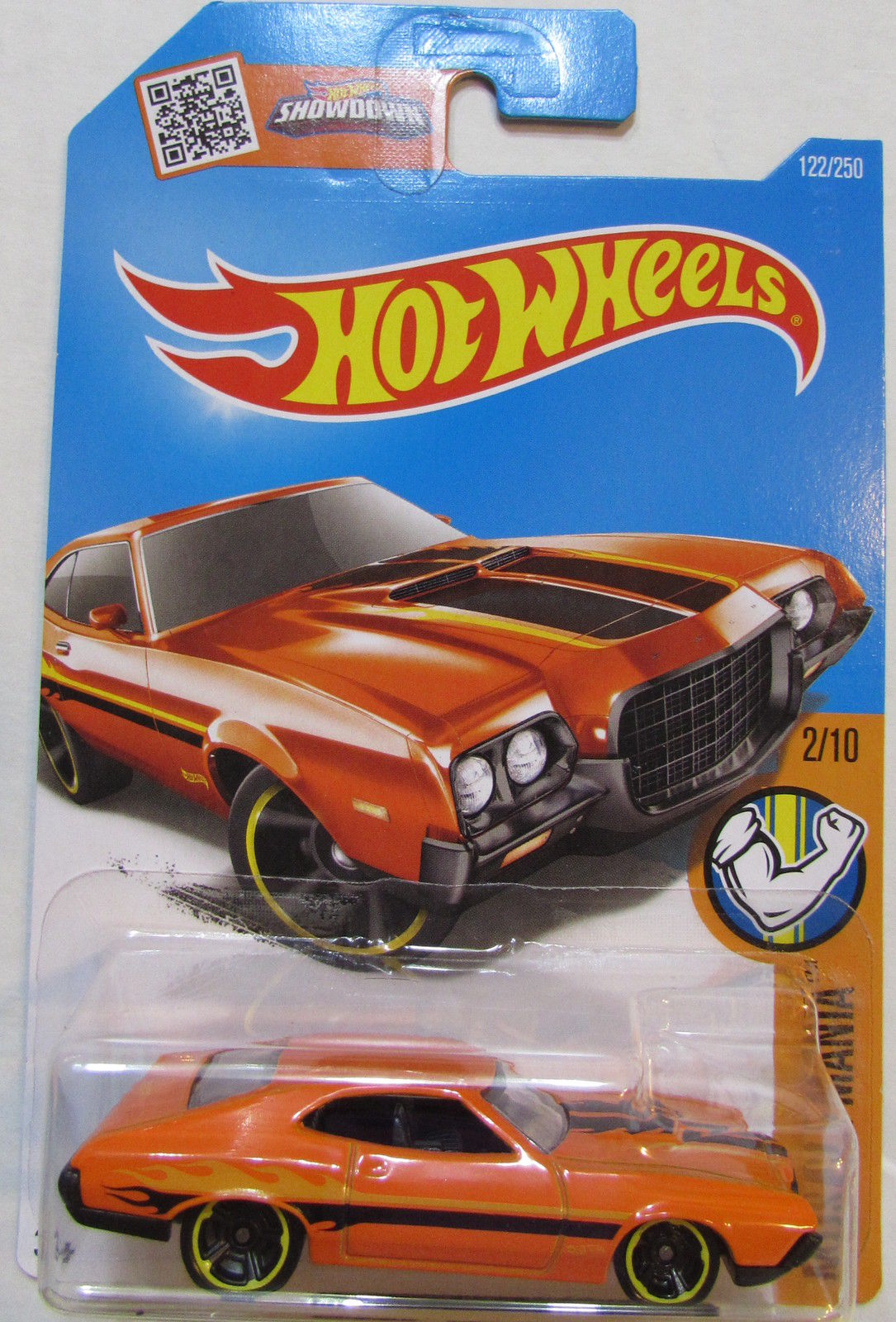 HOT WHEELS 2016 MUSCLE MANIA '72 FORD GRAN TORINO SPORT