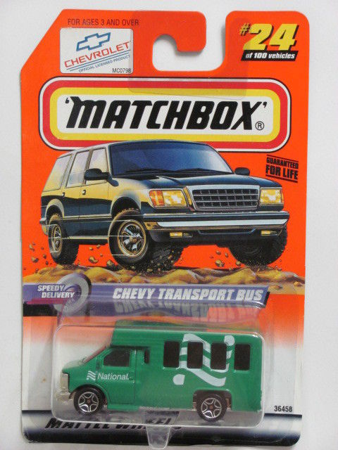 MATCHBOX 1999 #24 OF 100 CHEVY TRANSPORT BUS SPEEDY DELIVERY