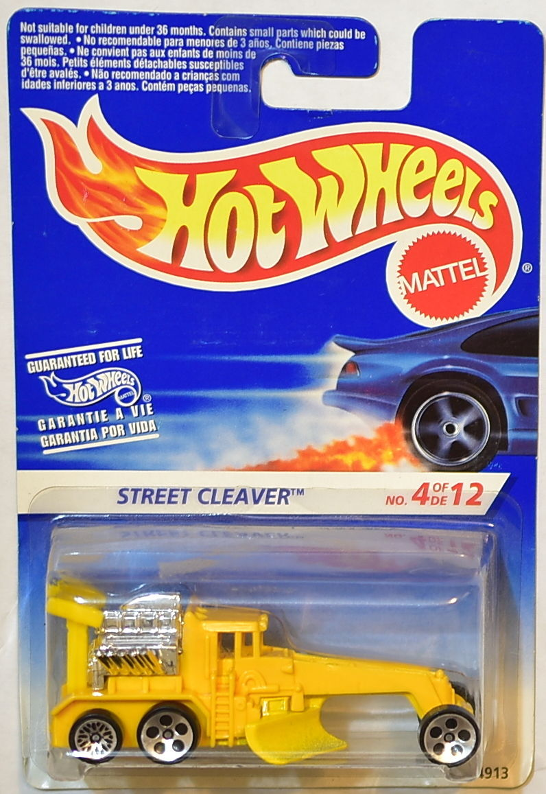 HOT WHEELS 1996 FIRST EDITIONS STREET CLEAVER WHEELS ERROR