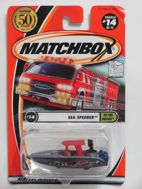 MATCHBOX 2001 #14 OF 75 SEA SPEEDER - TO THE RESCUE