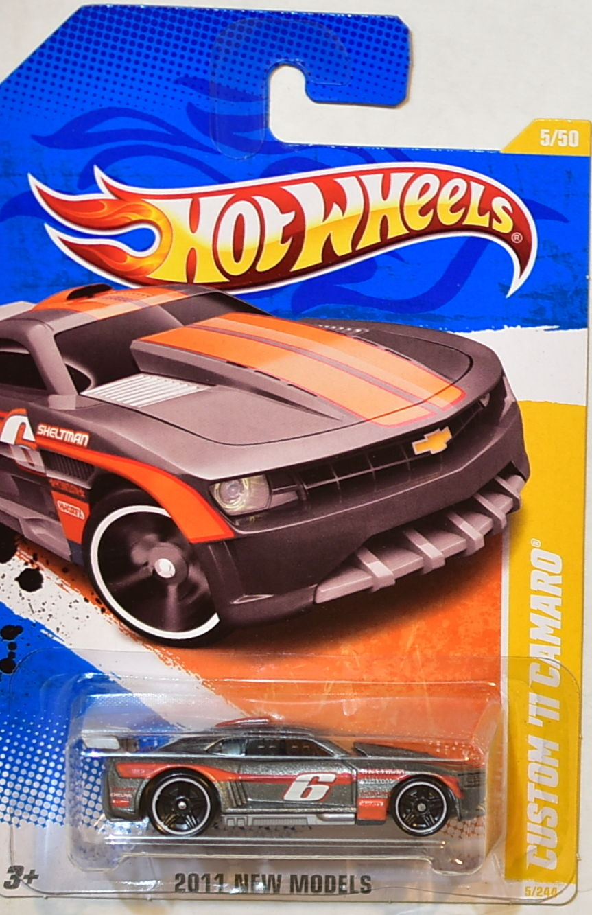 HOT WHEELS 2011 NEW MODELS CUSTOM '11 CUSTOM CAMARO GRAY