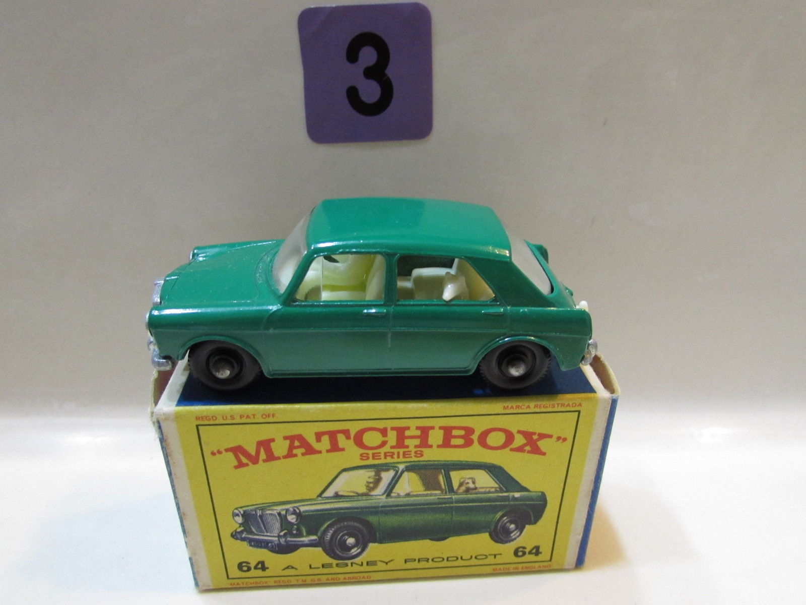 MATCHBOX SERIES #64 M.G 1100 LESNEY PRODUCT MADE IN ENGLAND