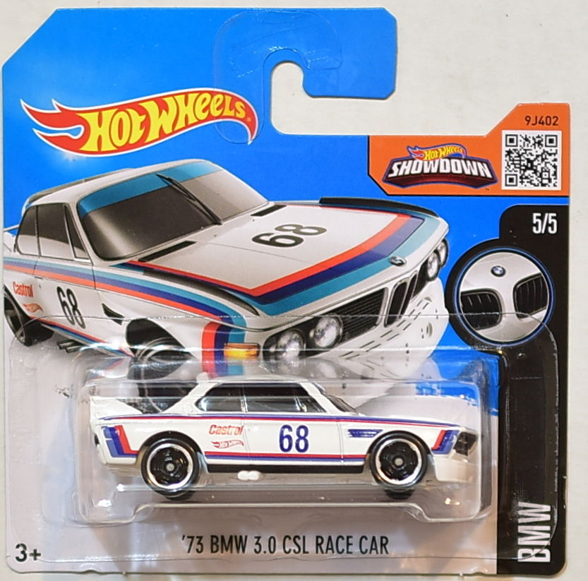 HOT WHEELS 2016 BMW '73 BMW 3.0 CSL RACE CAR #5/5 SHORT CARD