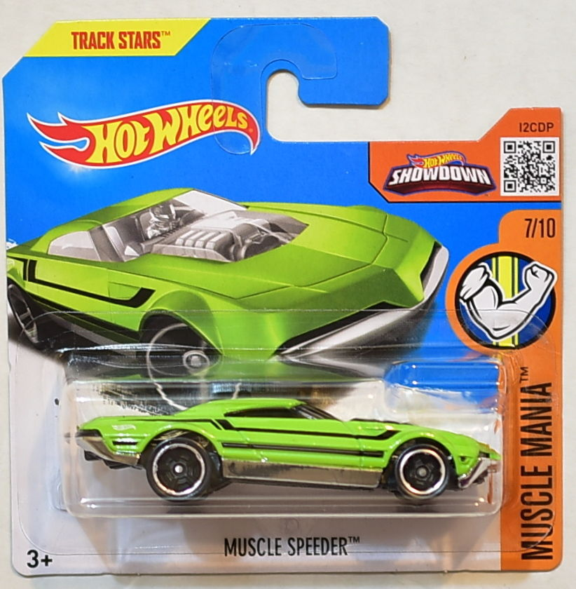 HOT WHEELS 2016 MUSCLE MANIA MUSCLE SPEEDER #7/10 SHORT CARD