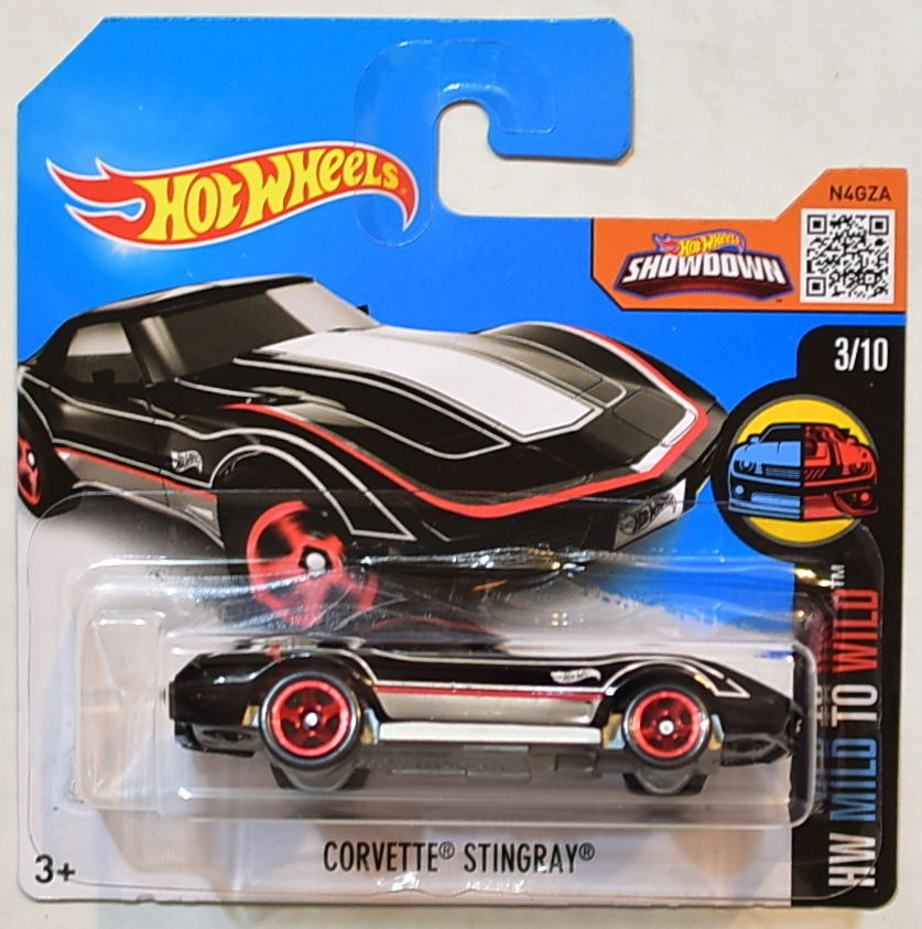 HOT WHEELS 2016 HW MILD TO WILD #3/10 CORVETTE STINGRAY SHORT CARD