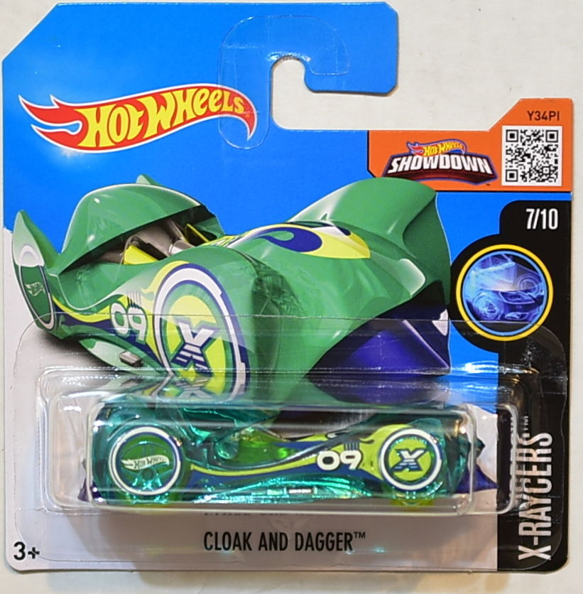 HOT WHEELS 2016 X-RAYCERS #7/10 CLOAK AND DAGGER SHORT CARD