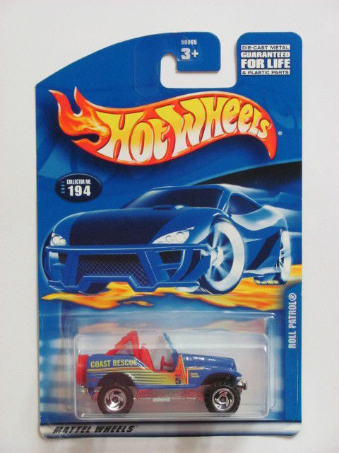 HOT WHEELS 2001 ROLL PATROL COLLECT. #194 BLUE