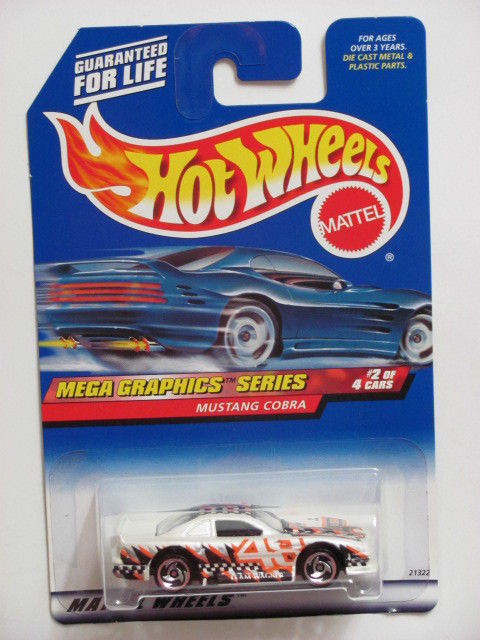HOT WHEELS 1999 MEGA GRAPHICS SERIES MUSTANG COBRA #974